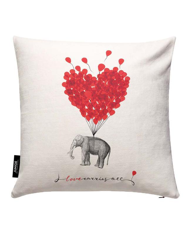 Love carries all - elephant Cushion Cover