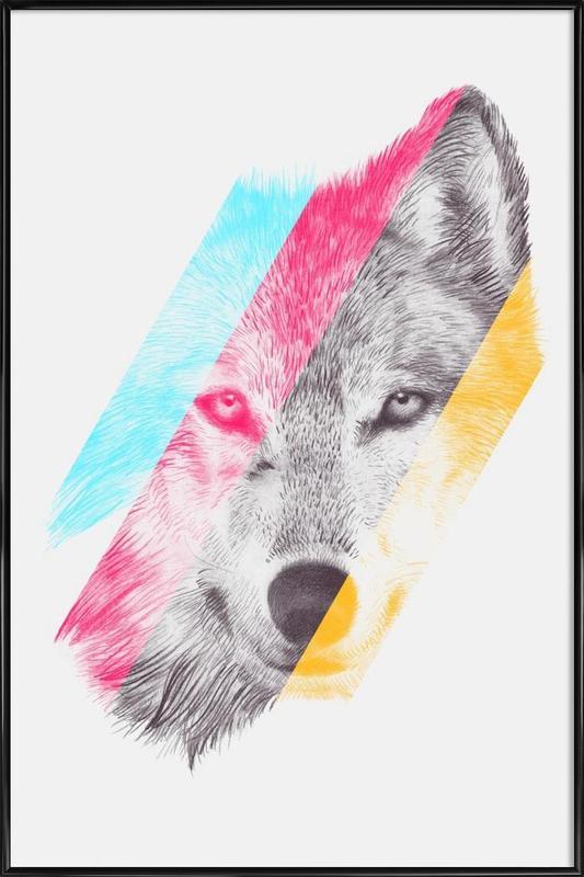 Wölfe, Wild II -Bild mit Kunststoffrahmen