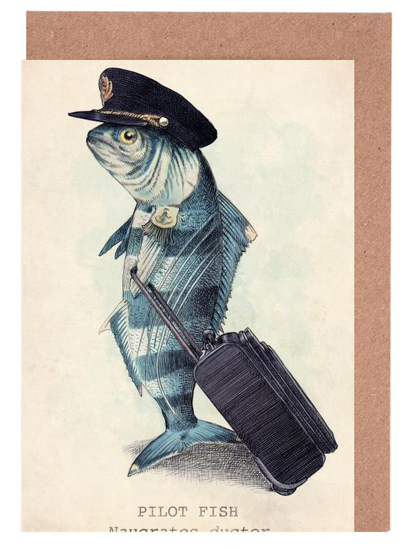 Creatures & Hybrids, Fish, The Pilot Greeting Card Set