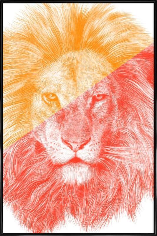 Animales de safari, Wild III lámina con marco