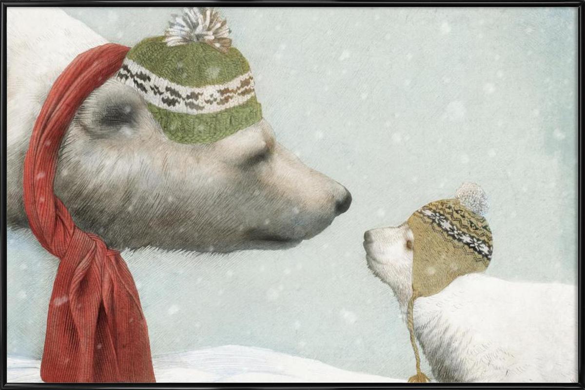 First winter -Bild mit Kunststoffrahmen