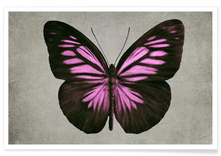 Papillon (pink) affiche