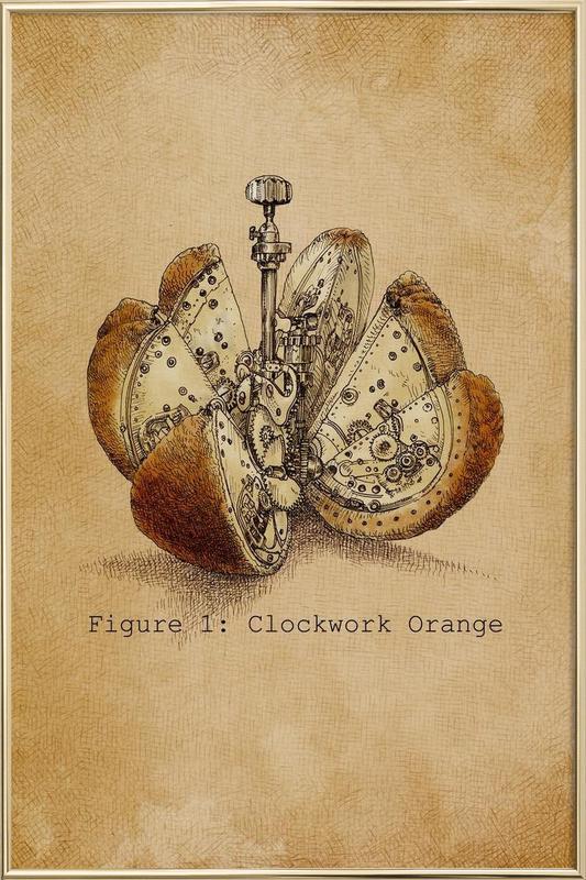 A Clockwork Orange -Poster im Alurahmen