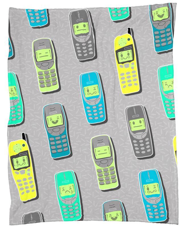 Vintage Cellphones plaid