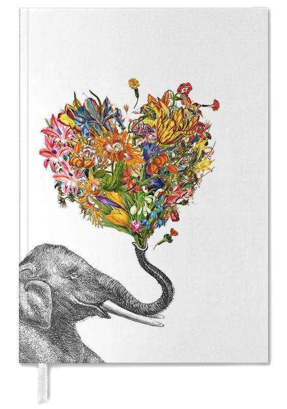 Éléphants, Cœurs, Art pour enfants, The Happy Elephant agenda