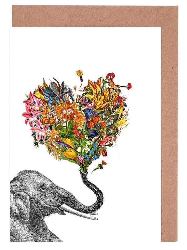 The Happy Elephant cartes de vœux