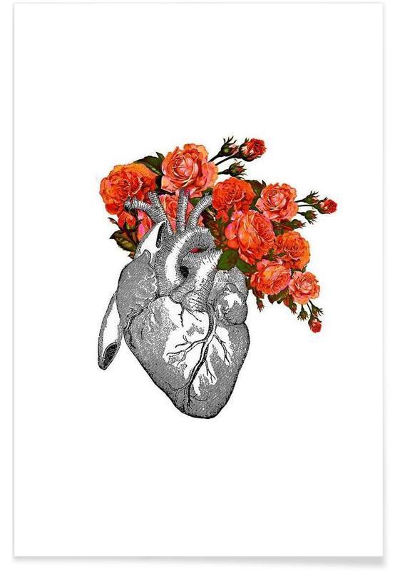 Flowering heart Poster