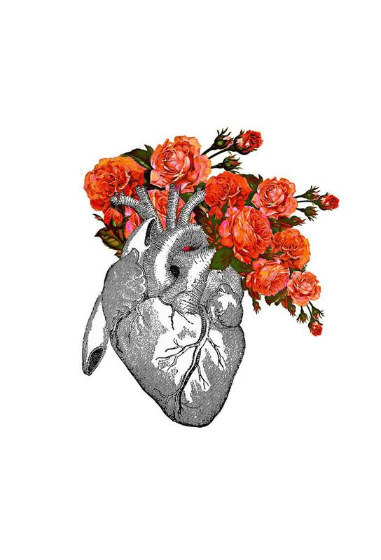 Flowering heart Acrylic Print