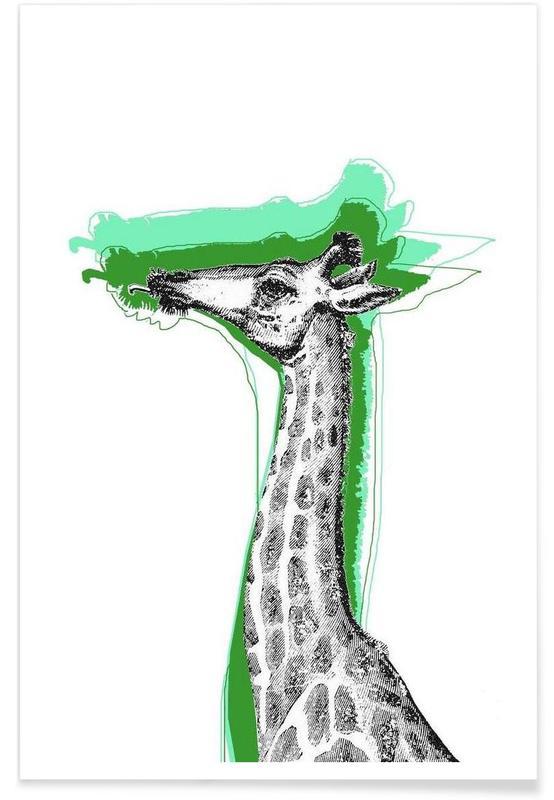 Cool Giraffe -Poster
