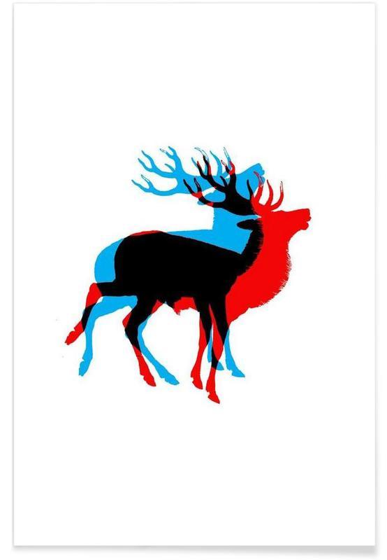 Cerfs, Cool Deer affiche