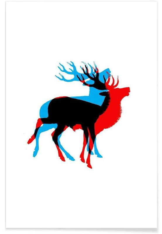 Cool Deer -Poster