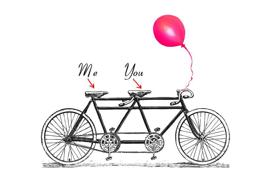 You and me alu dibond