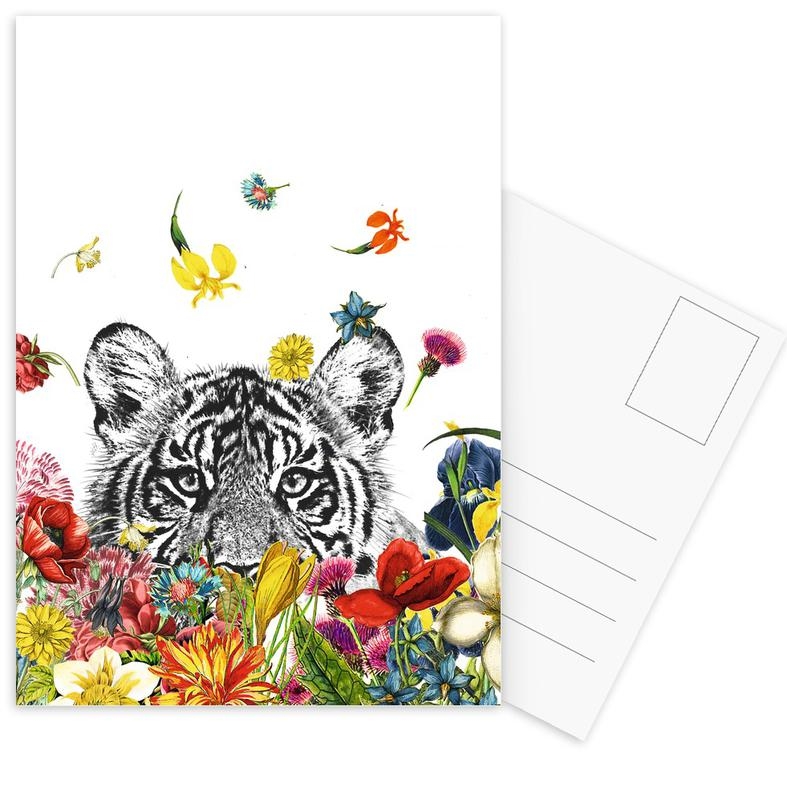 Tiger, Happy tiger -Postkartenset