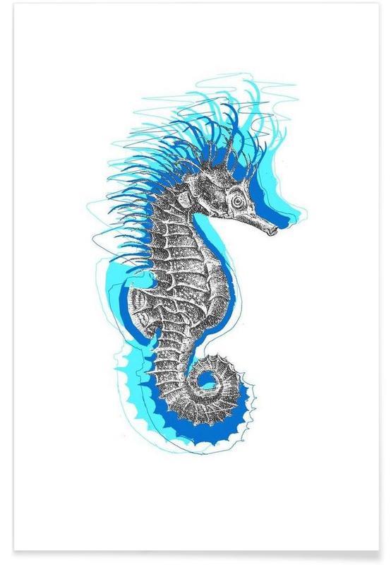 Hippocampes, Seahorse affiche