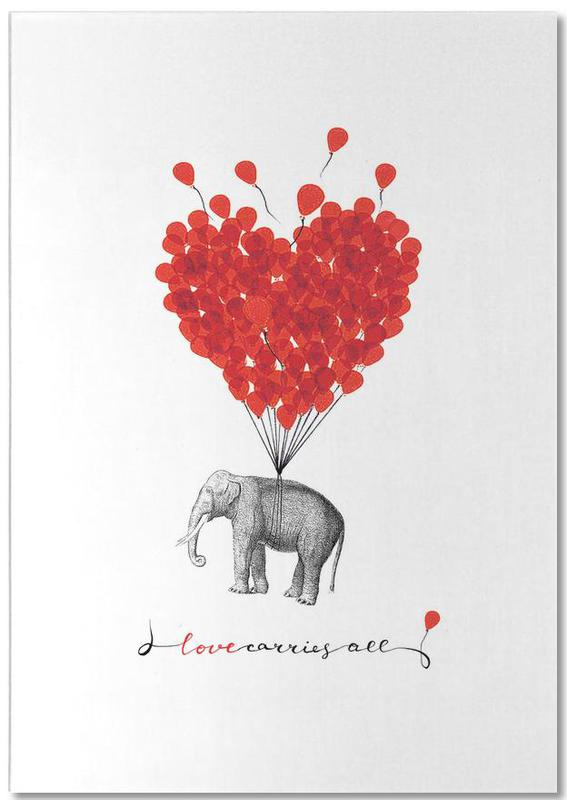 Love carries all - elephant Notepad