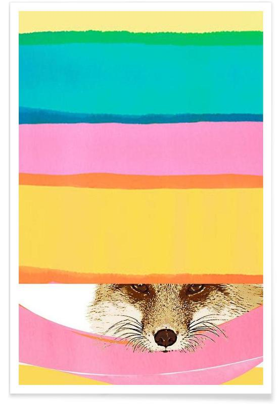 Foxes, Daydreaming Fox Poster