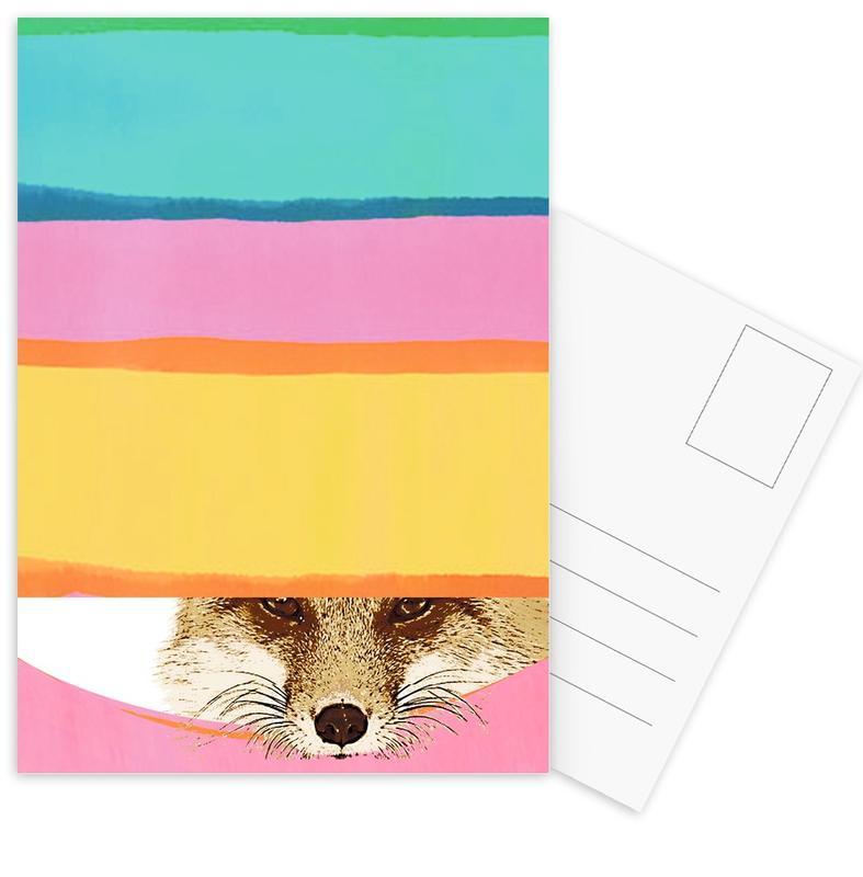 Renards, Daydreaming Fox cartes postales