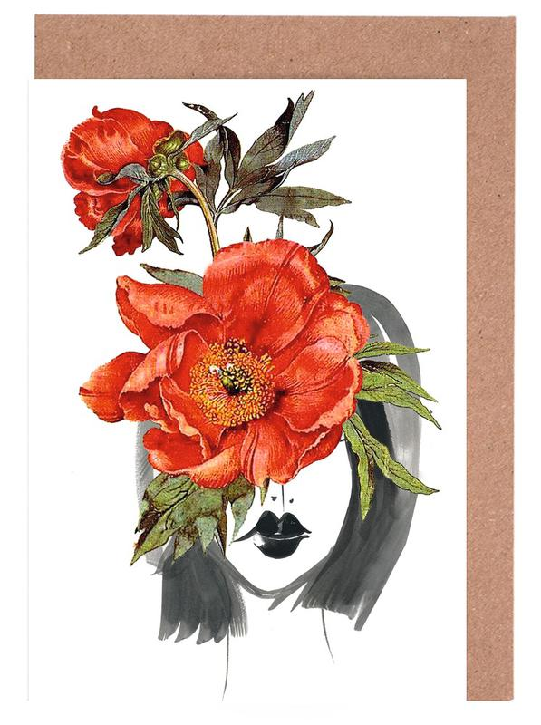 , Look through the Flowers 2 Greeting Card Set