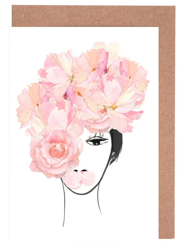 Roses, Portraits, Look through the Flowers 3 Greeting Card Set