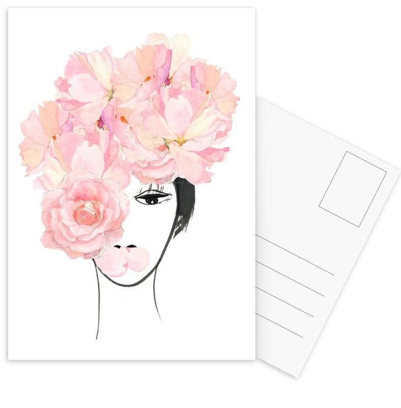 Look through the Flowers 3 Postcard Set