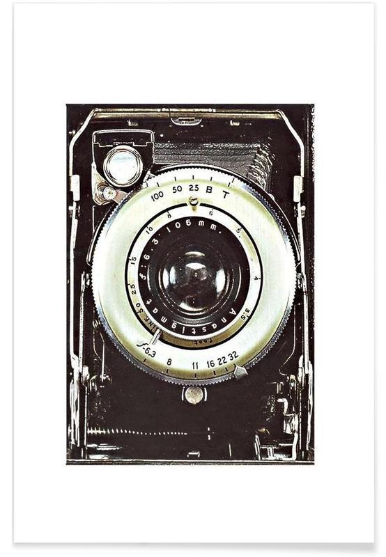 , Smile vintage camera affiche