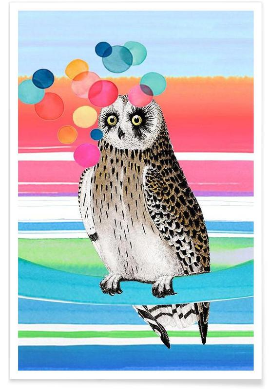Merry Owl -Poster