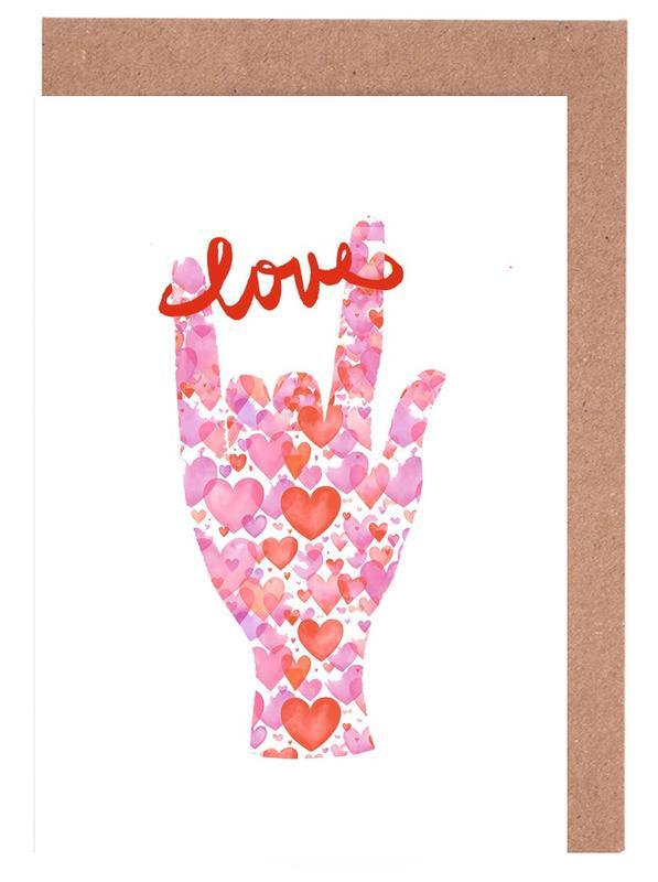 I Love You 1 Greeting Card Set