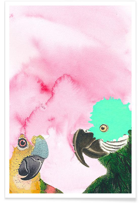 Parrots, It Is Cloudy! Poster