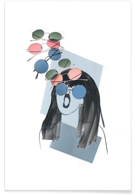Illustrations de mode, What Color Glasses affiche