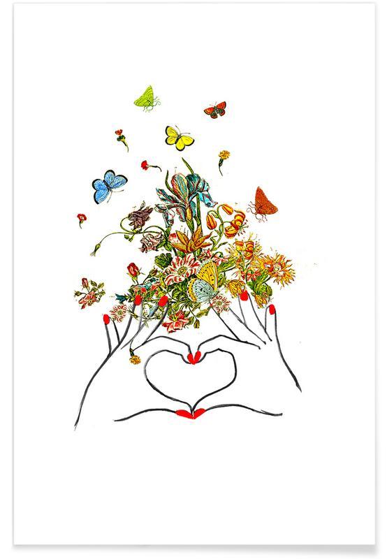 Anniversaires de mariage et amour, Félicitations, Fête des mères, Girl Power Love affiche