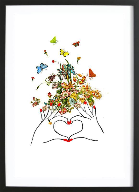 Girl Power Love Framed Print