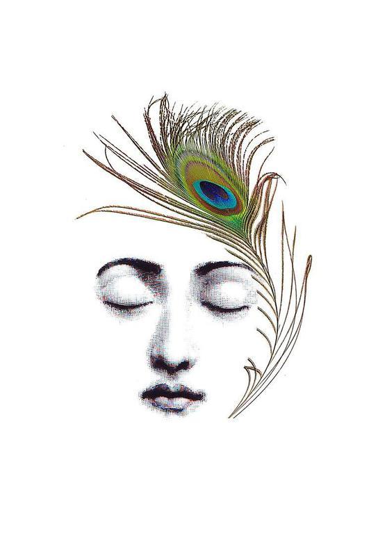 The peacock feather Impression sur alu-Dibond