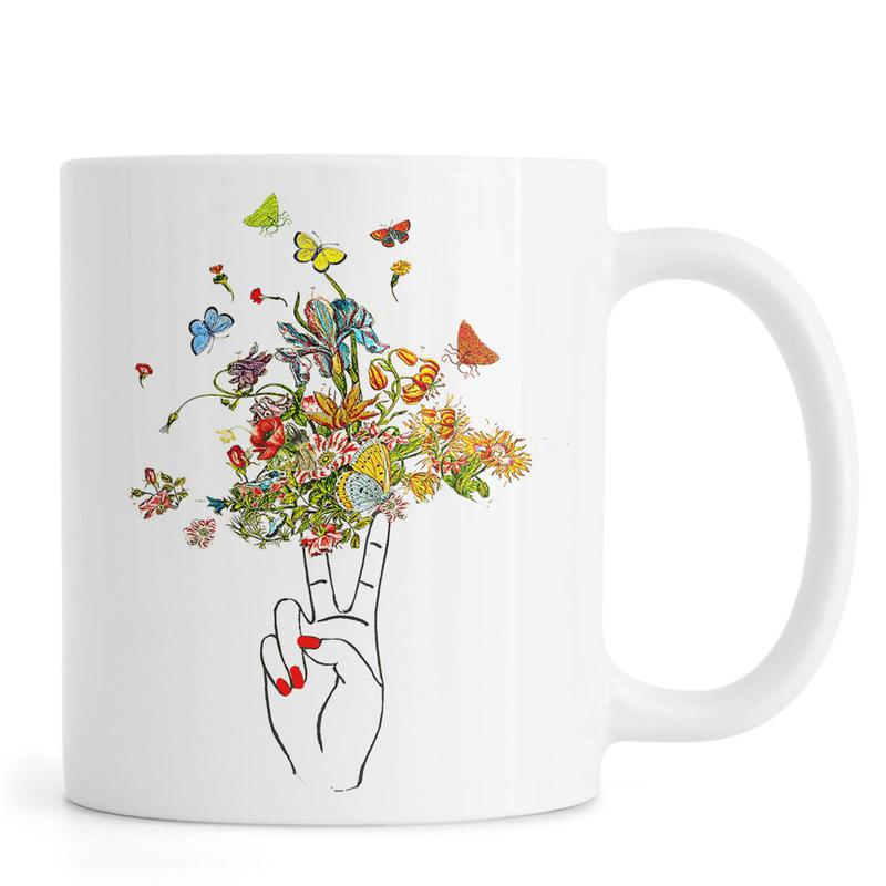 Girl Power Peace -Tasse