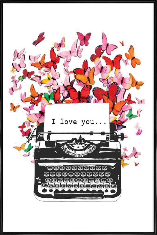 I Love You Framed Poster