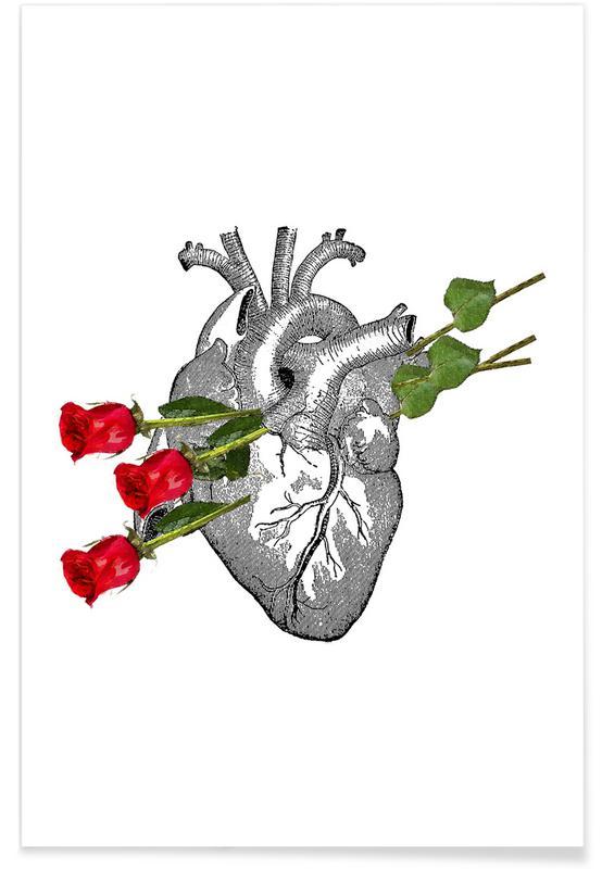 Rétro, Citations d'amour, Anniversaires de mariage et amour, Saint-Valentin, Roses Are Good affiche