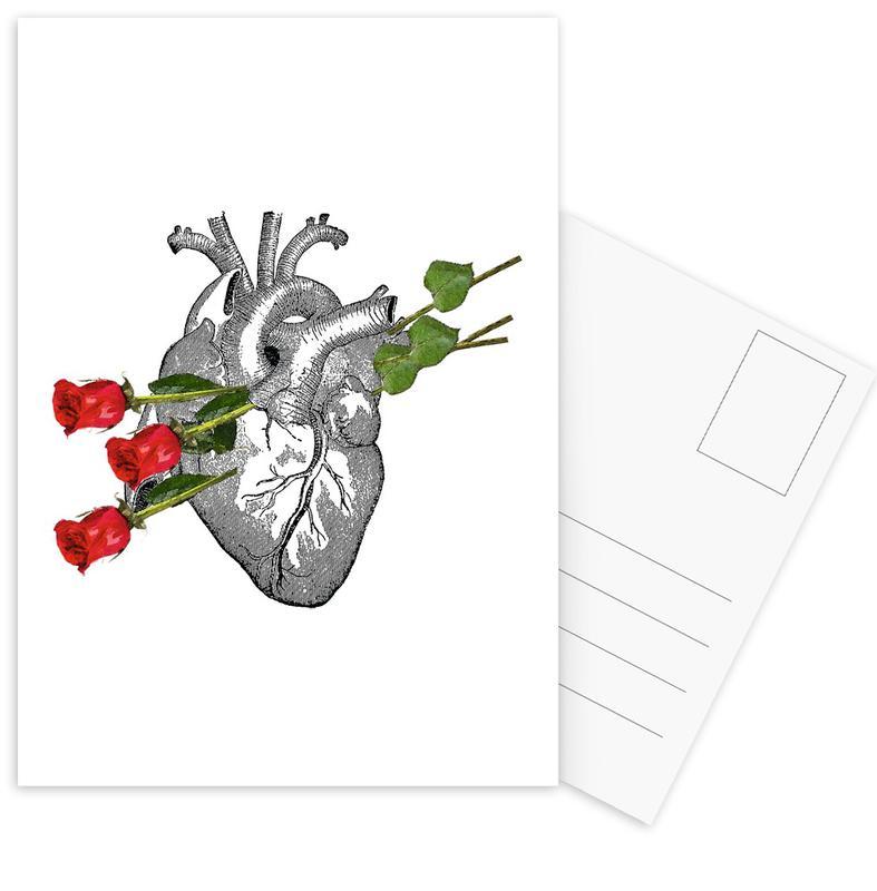 Valentijnsdag, Retro, Jubileums en liefde, Liefdescitaten, Roses Are Good ansichtkaartenset