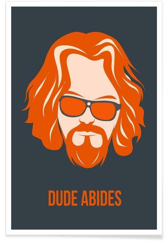 Films, Dude Abides Orange Poster affiche