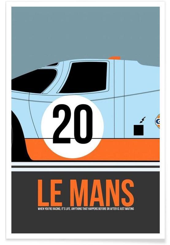 Le Mans Poster 2 affiche