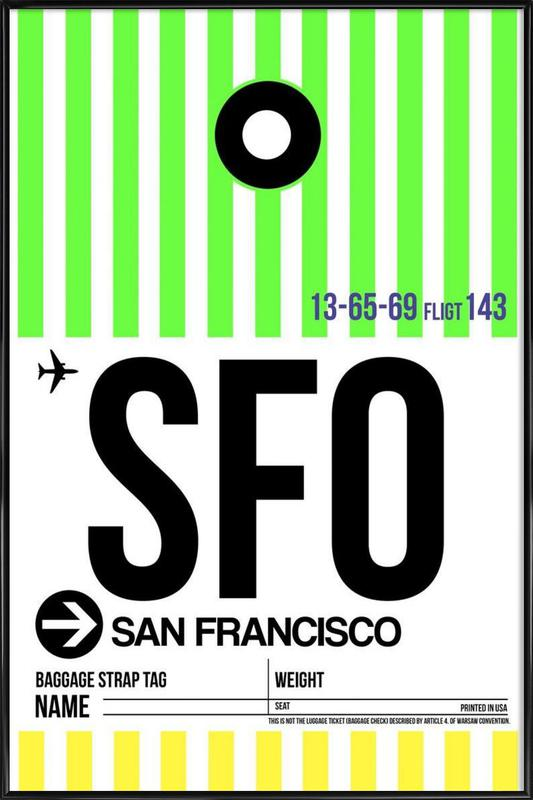SFO-San Francisco Framed Poster