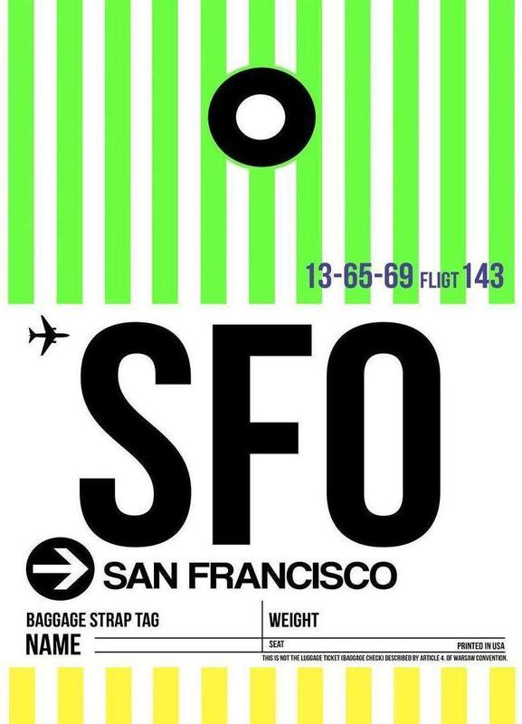 SFO-San Francisco -Leinwandbild