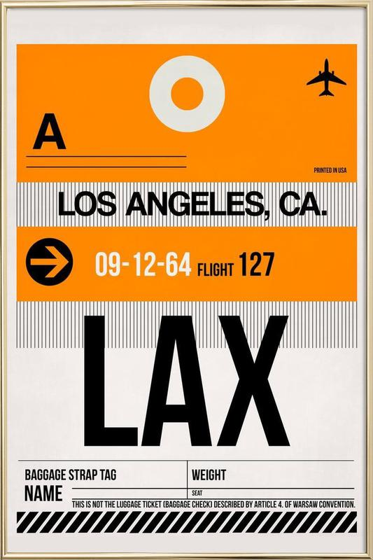 LAX-Los Angeles Poster in Aluminium Frame