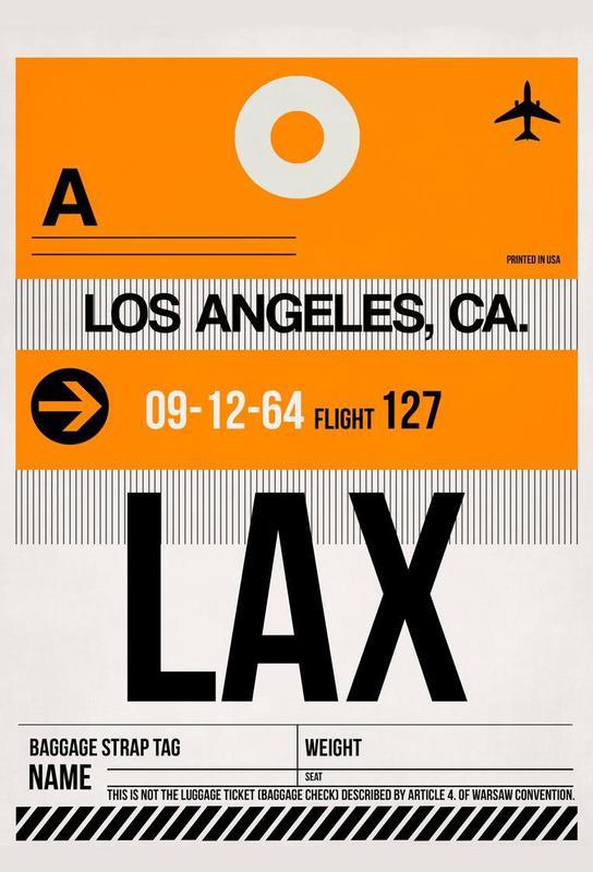 LAX-Los Angeles Aluminium Print