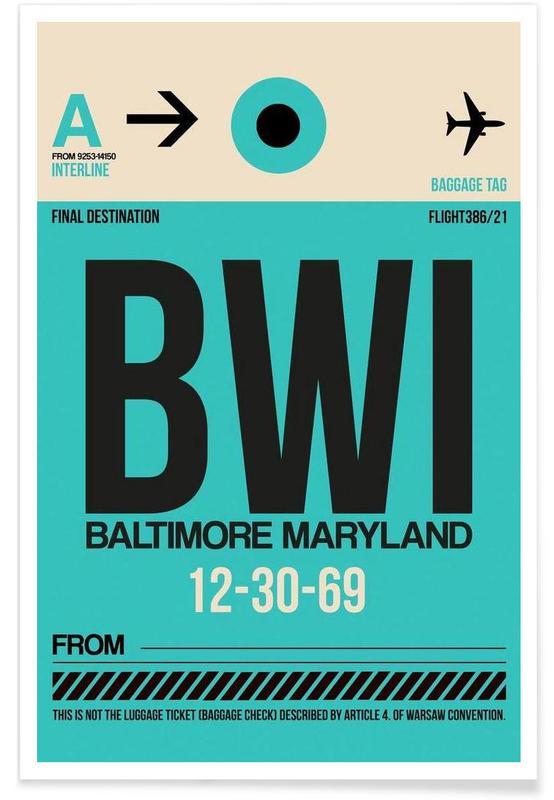 BWI - Baltimore Poster