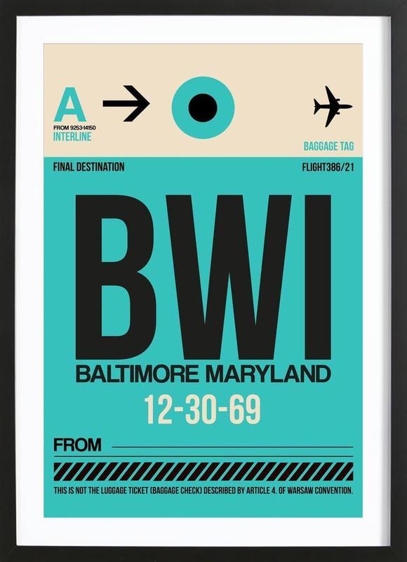BWI - Baltimore ingelijste print