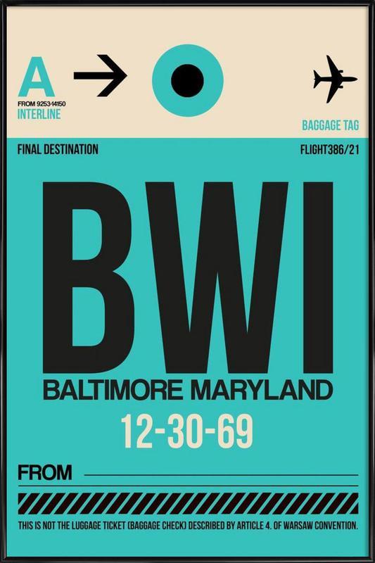 BWI - Baltimore Framed Poster