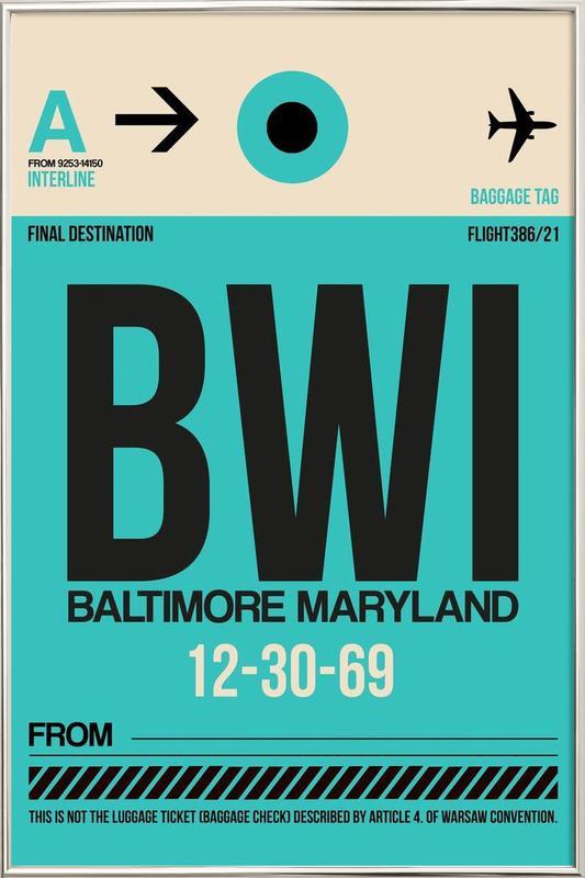 BWI - Baltimore poster in aluminium lijst