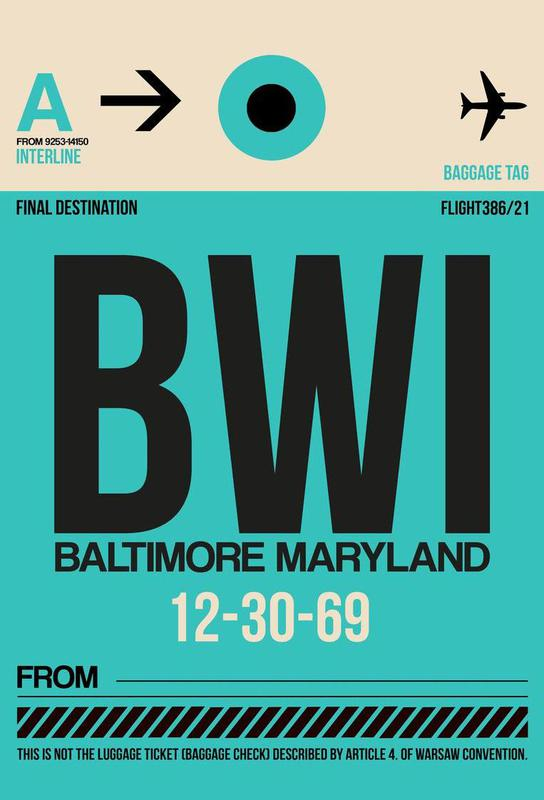 BWI - Baltimore acrylglas print
