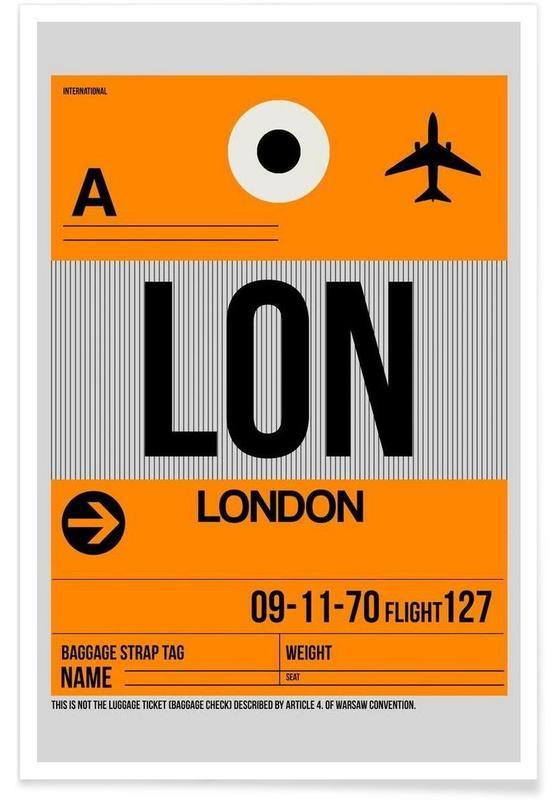 Londen, Reizen, LON-London poster