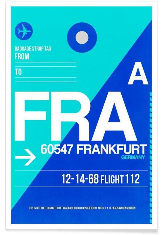 Francfort, Voyages, FRA-Frankfurt affiche