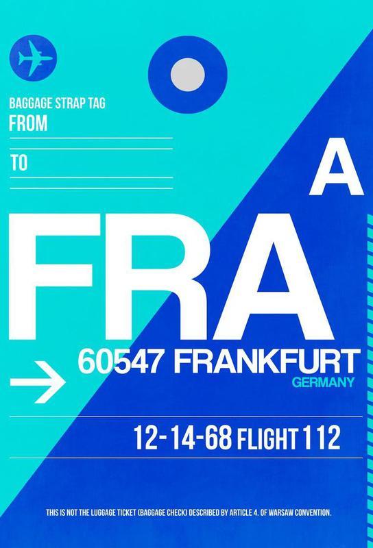 FRA-Frankfurt Aluminium Print